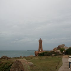 Photo taken at Phare de Ploumanac'h by Hugo T. on 10/24/2011