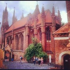 Photo taken at Šv. Onos Bažnyčia   St Anne's Church by Valentin K. on 8/25/2012