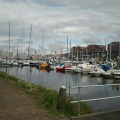 Photo taken at Jachthaven Scheveningen by Bas K. on 9/2/2011