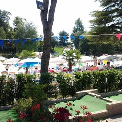 Photo taken at Altomincio Pool by Alain F. on 8/19/2012