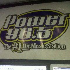 Photo taken at Power 96.5 Studio by Simon N. on 1/31/2012