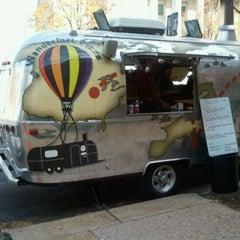 Photo taken at Wanderlust Pizza by Julie D. on 10/28/2011