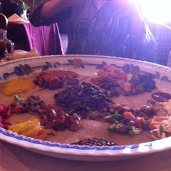Photo taken at Meaza Restaurant & Market by Cynthia d. on 3/28/2011
