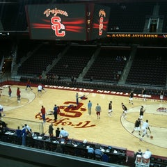 Photo taken at Galen Center (GEC) by Joshua W. on 12/23/2011