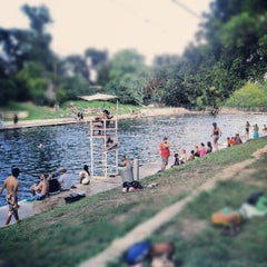 Photo taken at Barton Springs Pool by Dustin B. on 8/25/2012