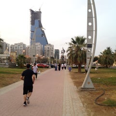 Photo taken at Al Corniche Walk | ممشى الكورنيش by Sultan S. on 7/14/2012
