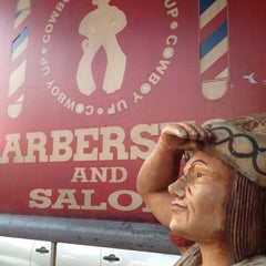 Photo taken at Cowboy Barber Shop by Jake N. on 5/11/2012