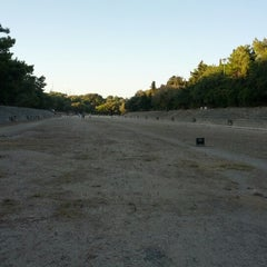Photo taken at Αρχαίο Στάδιο (Ancient Stadium) by Samuel R. on 9/1/2012