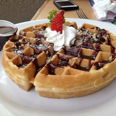 Photo taken at The Waffle Factory by Oscar S. on 8/5/2012