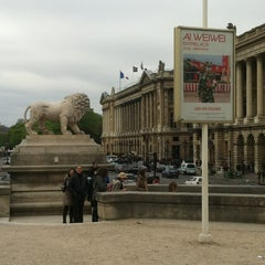 Photo taken at Jeu de Paume by Romain S. on 4/8/2012