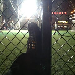 Photo taken at Lions Gate Soccer Field by David M. on 3/20/2012