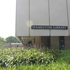 Photo taken at Hamilton Library by Philip W. on 10/14/2011