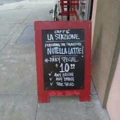 Photo taken at La Stazione Coffee & Wine Bar by Joseph T. on 7/11/2012