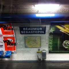 Photo taken at Métro Réaumur—Sébastopol [3,4] by Raphael T. on 6/18/2012