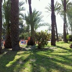 Photo taken at Jardin de los Franciscanos by Richard G. on 3/29/2012