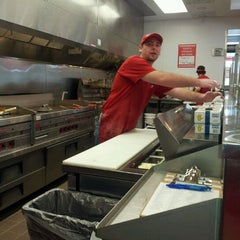 Photo taken at Five Guys by Tiffany L. on 1/23/2012