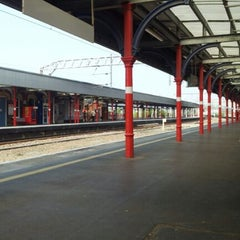 Photo taken at Stockport Railway Station (SPT) by Richard M. on 5/24/2012
