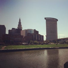 Photo taken at Cuyahoga River by Bigger on 7/29/2012
