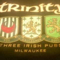Photo taken at Trinity Three Irish Pubs by Donovan T. on 3/4/2012