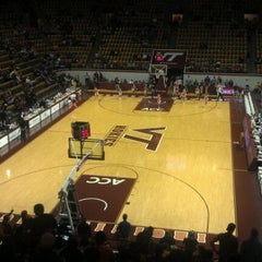 Photo taken at Cassell Coliseum by Eric G. on 1/25/2012