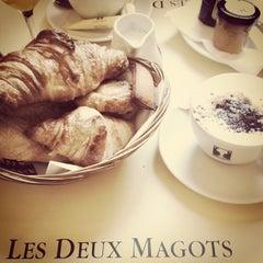 Photo taken at Les Deux Magots by Bruno M. on 10/23/2011
