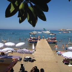 Photo taken at Escape Beach Club by Mehmet İ. on 7/15/2012