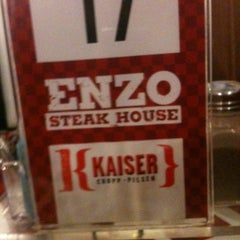 Photo taken at Enzo SteakHouse by Heide on 8/15/2012