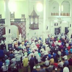 Photo taken at Masjid Al-Hasanah by Jaws I. on 5/11/2012