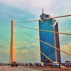 Photo taken at สะพานพระราม 9 (Rama IX Bridge) by ♬ ℙøø ♤♧♥♢ Ⓝ. on 7/8/2012