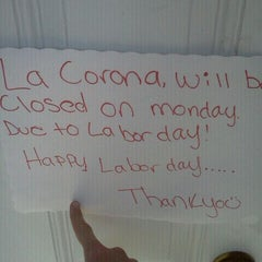 Photo taken at La Corona Mexican Restaurant by Michael S. on 9/5/2011