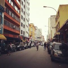 Photo taken at Rua Santa Ifigênia by Airton P. on 3/16/2012