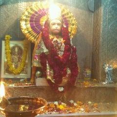 Photo taken at Sri hanuman temple by Himanshu S. on 3/6/2012