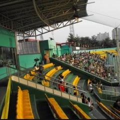 Photo taken at 청주종합운동장 야구장 (Cheongju Baseball Stadium) by hesisi on 4/28/2012