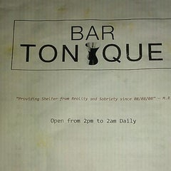 Photo taken at Bar Tonique by Adam G. on 7/14/2011