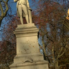 Photo taken at Alexander Hamilton Statue by Jonathan H. on 11/19/2011
