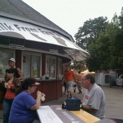 Photo taken at American Dairy Association of Indiana Dairy Bar at the Indiana State Fairgrounds by Brian G. on 8/19/2011