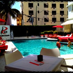 Photo taken at Sun Lounge At RED South Beach by Sabrina D. on 3/9/2012