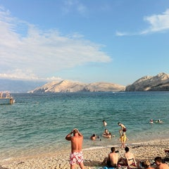 Photo taken at Baška Beach by Achalek on 7/25/2012