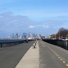 Photo taken at Shore Parkway Greenway by Jacob C. on 3/5/2011