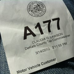 Photo taken at Dekalb County Tax Commissioner by DanielleJMe on 3/14/2012