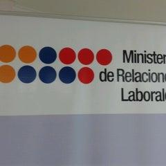 Photo taken at Ministerio de Relaciones Laborales by Mario Geovanny F. on 6/26/2012