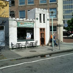 Photo taken at Moody's Falafel Palace by Christopher S. on 9/21/2011