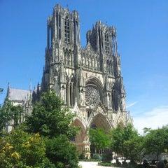 Photo taken at Cathédrale Notre-Dame de Reims by François C. on 7/24/2012