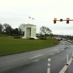 Photo taken at Peace Arch Border Crossing by Manscaping J. on 1/28/2012