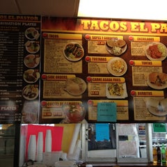Photo taken at Tacos El Pastor by Damian F. on 2/12/2012