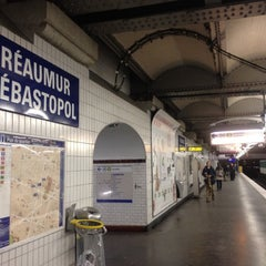 Photo taken at Métro Réaumur—Sébastopol [3,4] by Chapurin F. on 12/19/2011