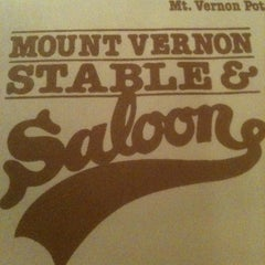 Photo taken at Mount Vernon Stable & Saloon by Justin W. on 1/27/2011