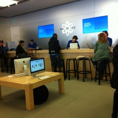 Photo taken at Apple Store, Bethesda Row by Charlotte W. on 3/9/2012
