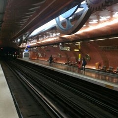 Photo taken at Métro Arts et Métiers [3,11] by Fred W. on 6/28/2012