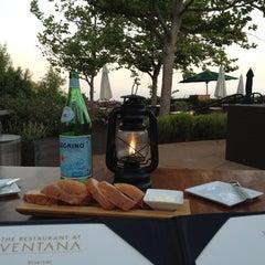 Photo taken at The Restaurant at Ventana Inn by David O. on 7/13/2012